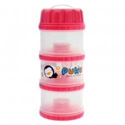 PUKU 3 Layers Extra Large Independet Milk Powder Dispenser Formula Baby Infant Container Portable Box Case 100ml Pink P11012-899