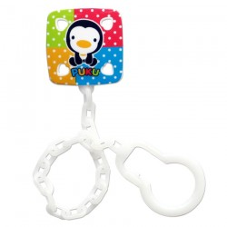 PUKU Baby Soother Pacifier Chain Rainbow Clip P11112