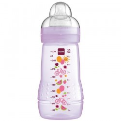 MAM Baby Bottle 270ml (Silk Teat size 2) -Single Pack Purple