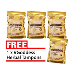 VGoddess Herbal Yoni Pearls for Yeast Infection Bacteria Vaginosis (Buy 3 Free 1)