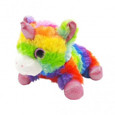 Inky Plush Collection Plush Pencil Case (Rainbow Unicorn)