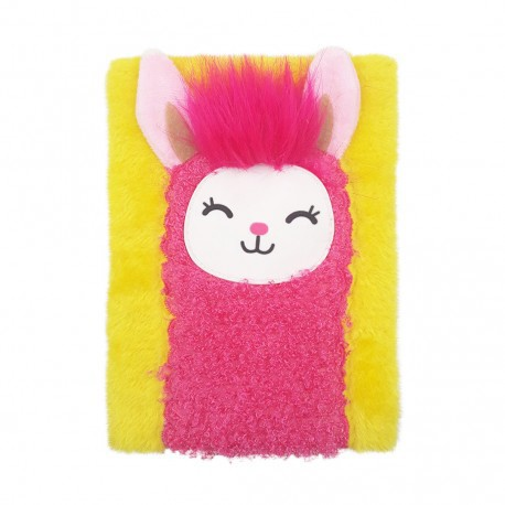 Inky Plush Collection Furry Notebook (Llama)