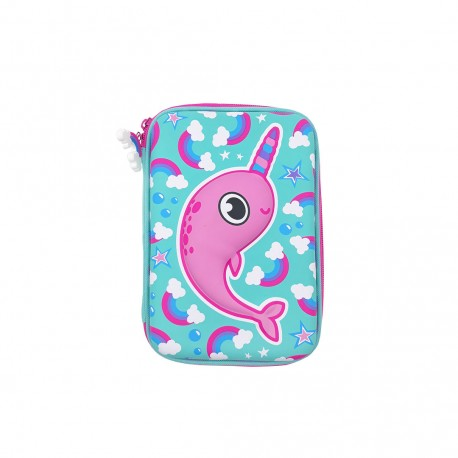 Inky Hardshell Pencil Case (Magic Narwhal)