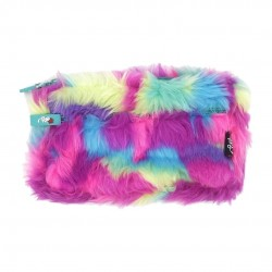 Inky Rainbows and Plush Pencil Case (Bright)