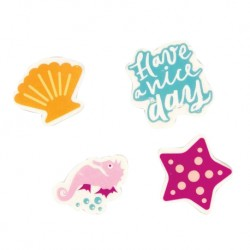 Inky 4pcs Fun Erasers (Mermaid)