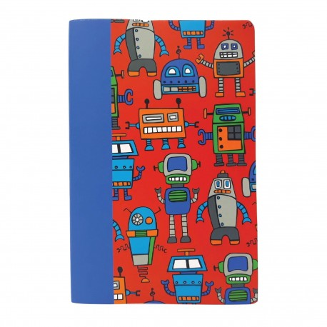Inky A4 Exercise Book (Happy Robots)