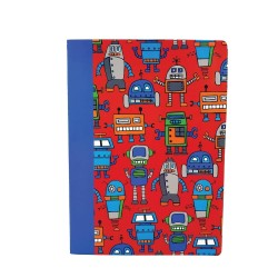 Inky Happy Robots A5 Exercise Book