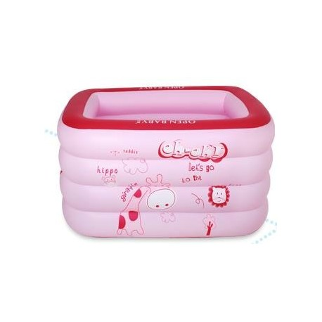 Unme Inflatable Rectangular Pool (Pink)