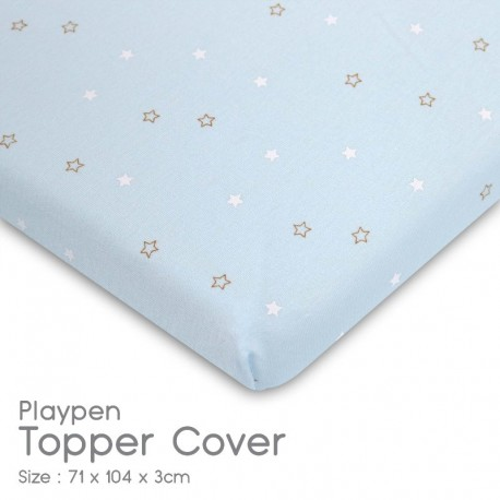 Comfy Living Playpen Topper Cover / Playpen Topper Fitted Sheet (71 x 104 x 3cm)