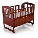 My Dear Wood Crib with Rocking Function ( Fitted Mattress Size 25'' x 44'')