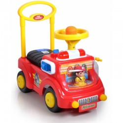 My Dear 2 in 1 Fire Engine Ride On Car