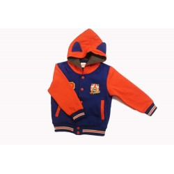 Pigeon Toddler Boy Long Sleeve Jacket - Blue Orange