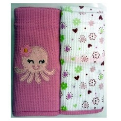 OWEN Baby Thermal Blanket, 2 Piece Set - PINK