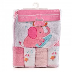 OWEN Baby Towel - 5 Piece Starter Set - PINK