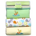 OWEN Baby Receiving Blankets, 4 Piece Set (YELLOW)