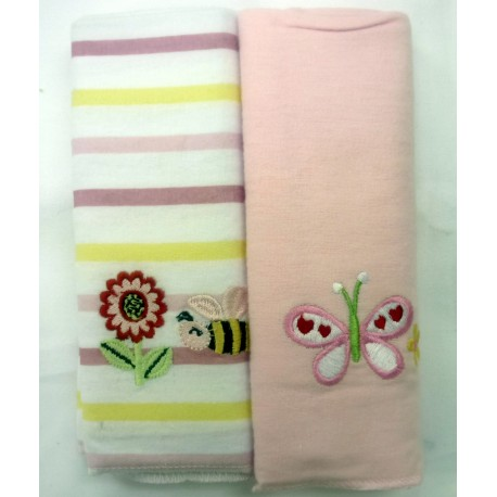 OWEN Baby Receiving Blankets, 2 Piece Set (PINK)
