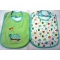 OWEN Baby Bib, 2 Piece Set - GREEN