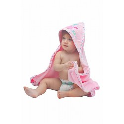 OWEN Baby Terry Hooded Towel with Washcloth (PINK)