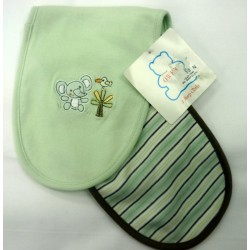 OWEN Baby Burp Cloth, 2 Piece Set - GREEN
