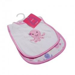 OWEN Baby Bib, 2 Piece Set - PINK