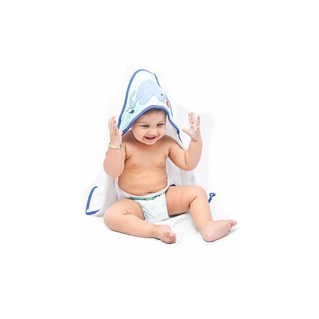 OWEN Whale Knit Hooded Towel (2 Piece Set)