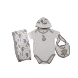 Sixteen Petite 4-Pieces Set - 6-9m (Animal Prints)