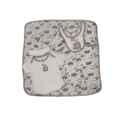Sixteen Petite 5-Pieces Set - 3-6m (Animal Prints)