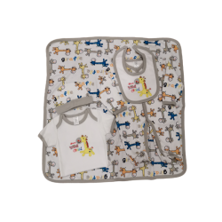 Sixteen Petite 5-Pieces Set - 6m (Colorful Giraffe)
