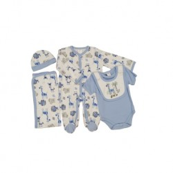 Sixteen Petite 5-Pieces Set - 9m (Blue Animals)