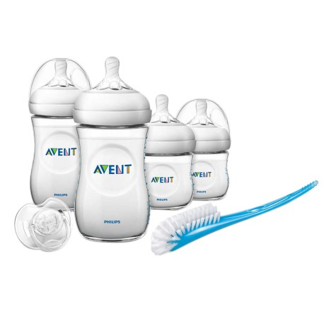 Philips Avent Newborn Starter Set - Natural 2.0 Softer Teats + FOC 3pc set Food Container worth RM26