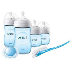 Philips Avent Newborn Starter Set - Natural 2.0 (PP, Blue) (Extra Soft Teat) + FOC 3pc set Food Container worth RM26