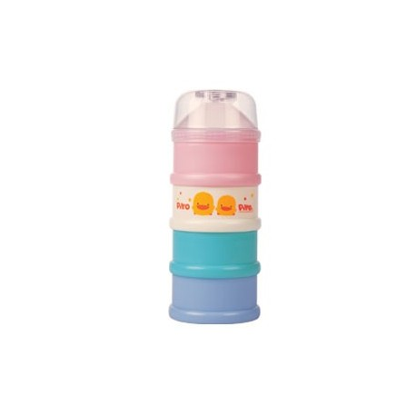 Coloured four layer milk powder dispenser