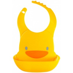Piyo Piyo Adjustable Waterproof Bib with Food Catching Tray