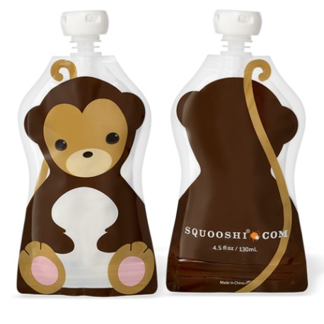 Squooshi Single Large Food Pouch-Monkey
