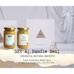 Poshies Home Kitchen Set A Bundle Deal - Crunch + Natural Smooth 100% Peanut Butter (FREE Fullerene Beauty Mask 1pcs)