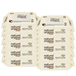 Natural Organic Baby Wipes - Premium Embossing Captype 80 Sheets (Buy 9 Packs FREE 1 Pack)