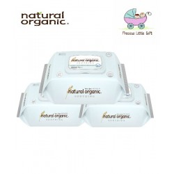 Natural Organic Baby Wipes - Soothing Premium Embossing Captype (70 Sheets x 3 Packs)