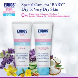 EUBOS Baby Lotion and Cleansing Gel Skin & Hair 125ml (2 items in one bundle)