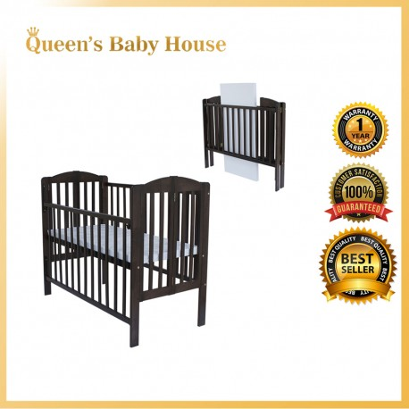 Royalcot R298 Multi Function Wooden Baby Cot (Mahogany) with Height Adjustable Layer