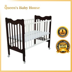 Royalcot R409 Multi Function Wooden Baby Cot White Mahogany with Height Adjustable Layer