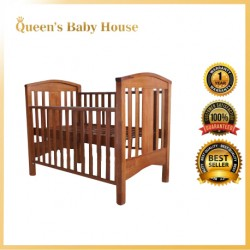 Royalcot R610 Multi Function Large Wooden Baby Cot (LIGHT OAK) with Height Adjustable Layer