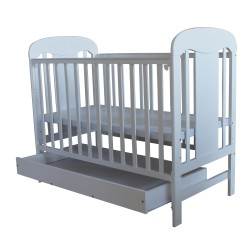 Royalcot R403  D+R Baby Cot White