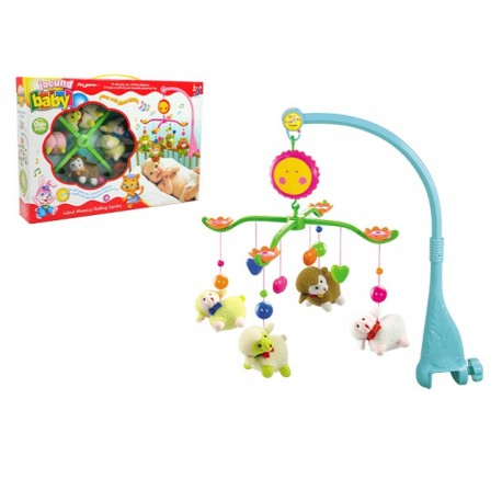Royalcot  Baby Cot Musical Mobile Baby Toys (Sheep)