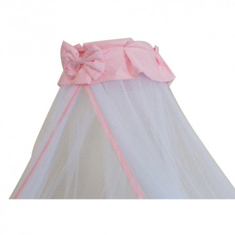 Royalcot Baby Cot Mosquito Net With Clamp (Pink Butterfly Ribbon)
