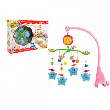 Royalcot Baby Cot Musical Mobile Baby Toys (Blue Star)