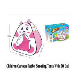 Royalcot Children Cartoon Rabbit Shooting Tents with 50 Balls