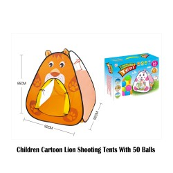 Royalcot Children Cartoon Lion Shooting Tents with 50 Balls