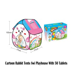 Royalcot Cartoon Rabbit Tents Swi Playhouse With 50 Tablets