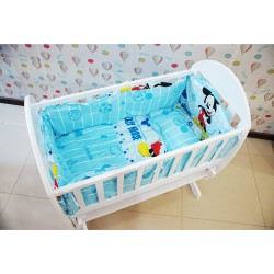 Baby Cradle Mickey Mouse Bedding Set (49 x 89cm)