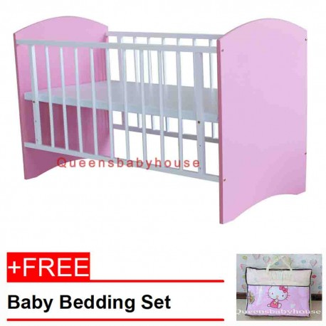 Royalcot R110 White Pink + Free Bedding Hello Kitty